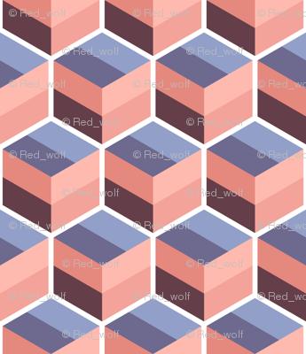 Geometric Pattern: Cube Stripe: Desert