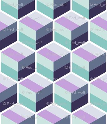 Geometric Pattern: Cube Stripe: Mineral