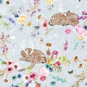 Fawn Garden (duck egg blue) MED