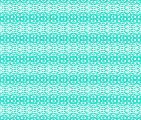 Geometric Pattern: Linked Hexagon: Blue/White fabric by red_wolf on Spoonflower - custom fabric