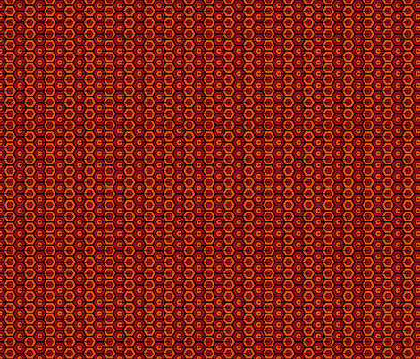 Geometric Pattern: Linked Hexagon: Orange/Red fabric by red_wolf on Spoonflower - custom fabric