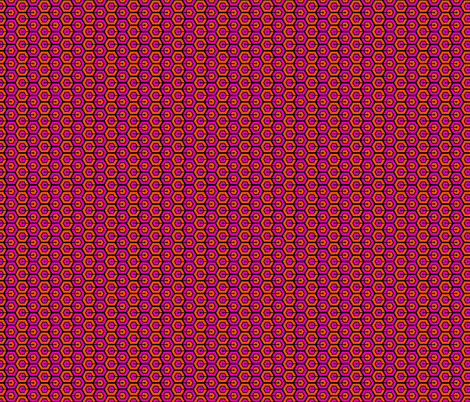 Geometric Pattern: Linked Hexagon: Orange/Pink fabric by red_wolf on Spoonflower - custom fabric