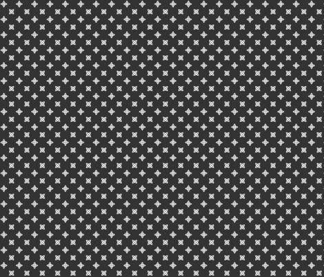 Geometric Pattern: Four Petal Stylised Flower: Grey fabric by red_wolf on Spoonflower - custom fabric