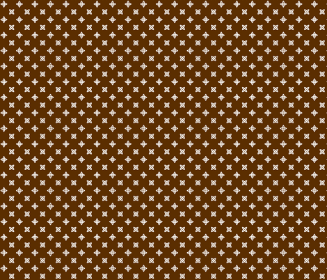 Geometric Pattern: Four Petal Stylised Flower: Brown fabric by red_wolf on Spoonflower - custom fabric