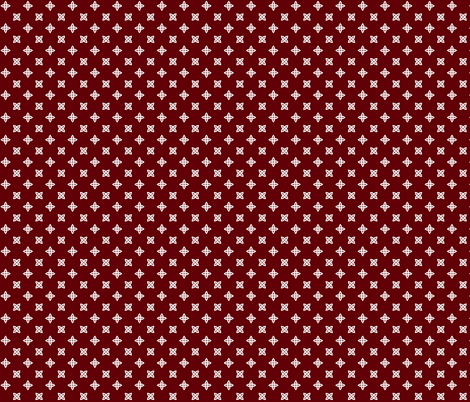 Geometric Pattern: Four Petal Stylised Flower: Red fabric by red_wolf on Spoonflower - custom fabric