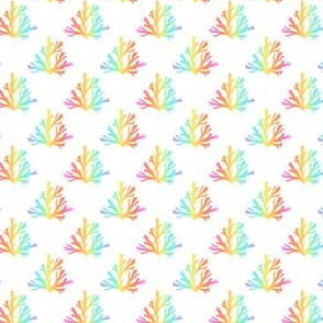 coral polka dot rainbow ~1 x3/4 inch