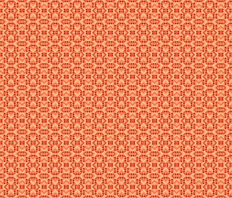 Geometric Pattern: Woven Rug: Orange fabric by red_wolf on Spoonflower - custom fabric