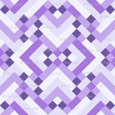 Geometric Pattern: Woven Rug: Purple