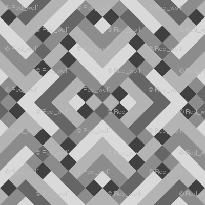 Geometric Pattern: Woven Rug: Monochrome