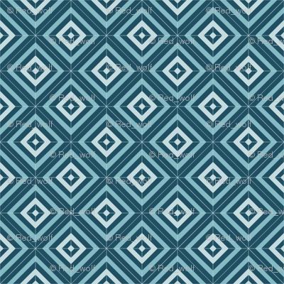 Geometric Pattern: Diamond Weave: Platter