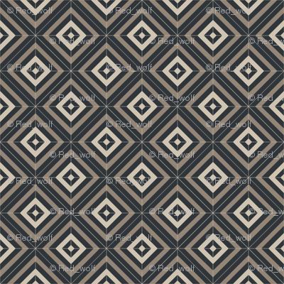 Geometric Pattern: Diamond Weave: Underwood