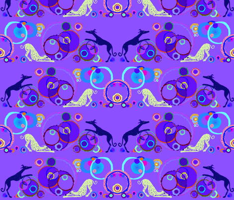circle hound puzzle-Challenge fabric by cloudsong_art on Spoonflower - custom fabric