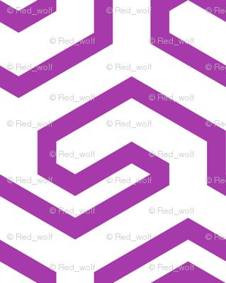 Geometric Pattern: Key Hook: Purple