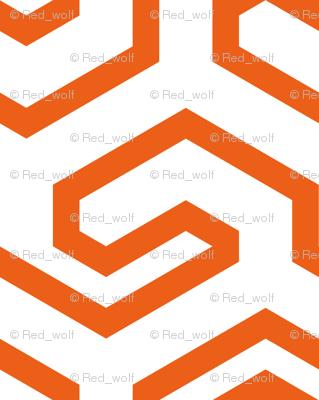 Geometric Pattern: Key Hook: Orange