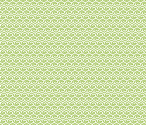 Geometric Pattern: Key Hook: Green fabric by red_wolf on Spoonflower - custom fabric