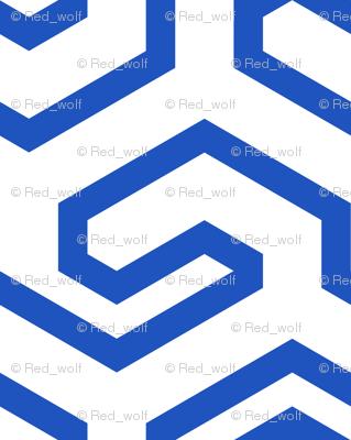 Geometric Pattern: Key Hook: Blue