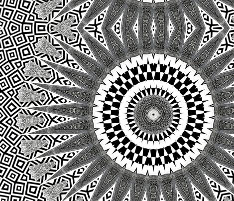 mandala circles fabric by heikou on Spoonflower - custom fabric