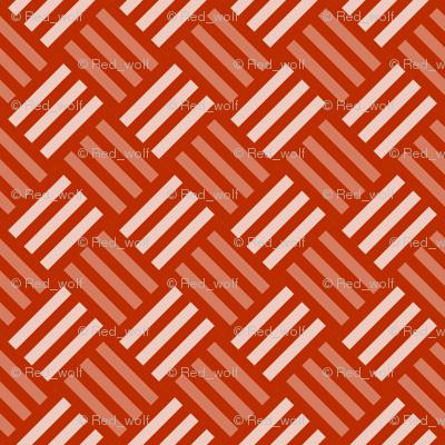 Geometric Pattern: Weave: Orange
