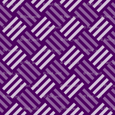 Geometric Pattern: Weave: Purple