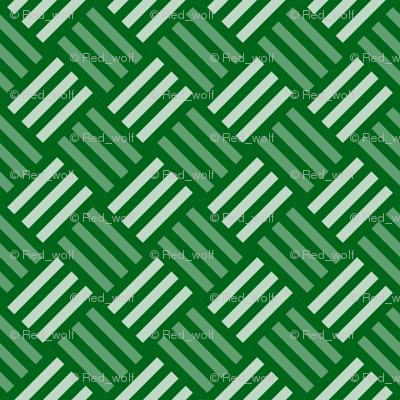Geometric Pattern: Weave: Green