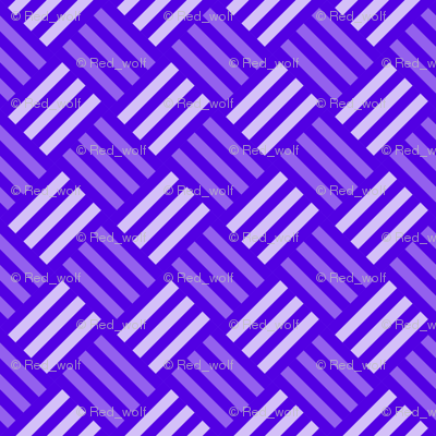 Geometric Pattern: Weave: Blue