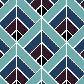 Geometric Pattern: Art Deco Diamond: Midnight