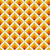 Geometric Pattern: Art Deco Diamond: Sunset