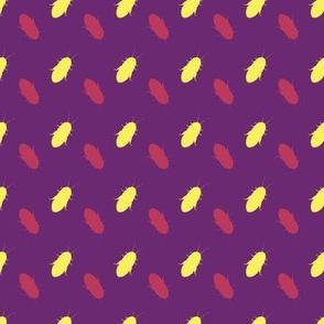 polkadot cockroach purple yellow