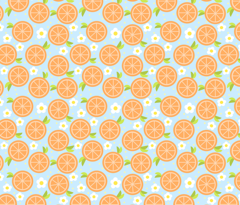 sweet orange fabric by amelia_kate_studio on Spoonflower - custom fabric