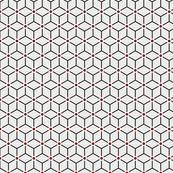 Geometric Pattern: Art Deco Star Circle: Brookelyn Red