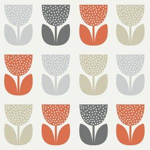 Flower Pattern: Poppy: Brookelyn Orange