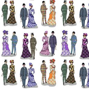 Victorian patterns on white 12x12