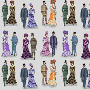 Victorian patterns on gray 12x12