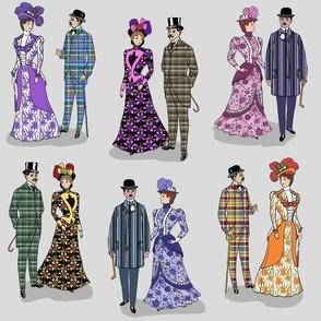 Victorian patterns on gray 18x18