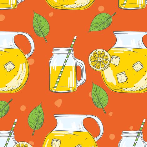 Lemon Time - Orange 9 fabric by diane555 on Spoonflower - custom fabric