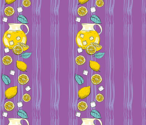 Lemon Time - Purple 7 fabric by diane555 on Spoonflower - custom fabric