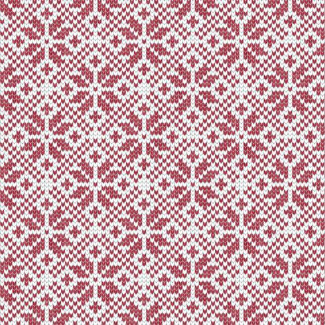 fair isle snowflake (red) || winter knits fabric by littlearrowdesign on Spoonflower - custom fabric