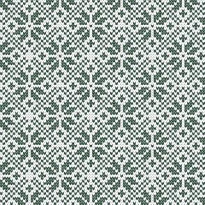 fair isle snowflake (green) || winter knits