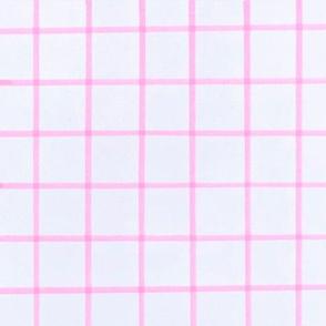 Hot Pink thin Check