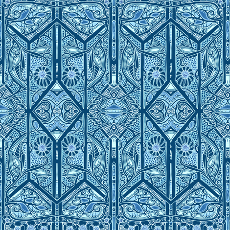 Waiting For Midnight  fabric by edsel2084 on Spoonflower - custom fabric