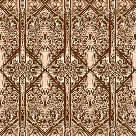 When Chocolate Goes Gothic fabric by edsel2084 on Spoonflower - custom fabric