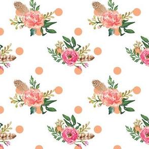 Floral Peach Dot