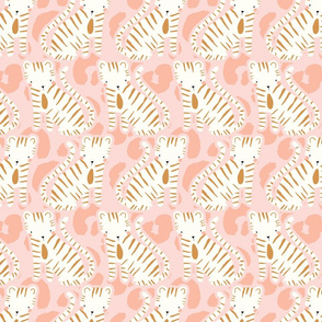 cute tigers on pink