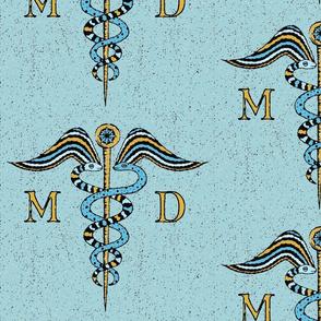 Antique Caduceus symbol