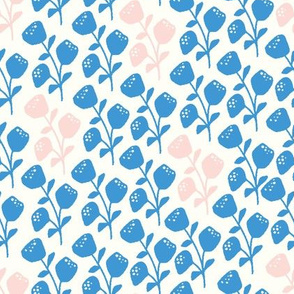flower bunch blue and pink