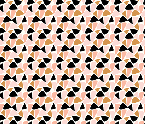 triangle geos fabric by littlefoxhill on Spoonflower - custom fabric