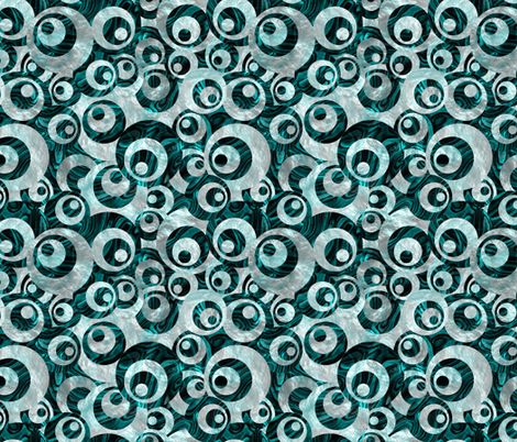 Mother of All Circles Teal fabric by wickedrefined on Spoonflower - custom fabric