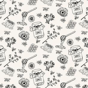 Bee Honey Leggings and Onesie_artwork-01