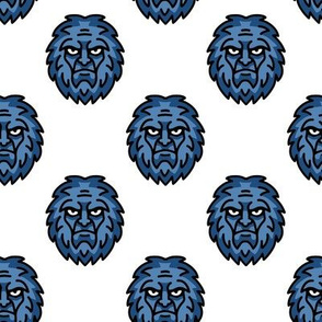 Bigfoot Sasquatch in Blue