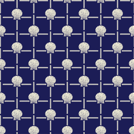 Crystal Cove - Navy 6 fabric by diane555 on Spoonflower - custom fabric